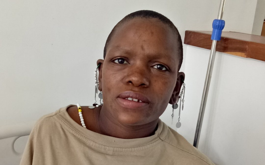 Leah getting ready for fistula surgery