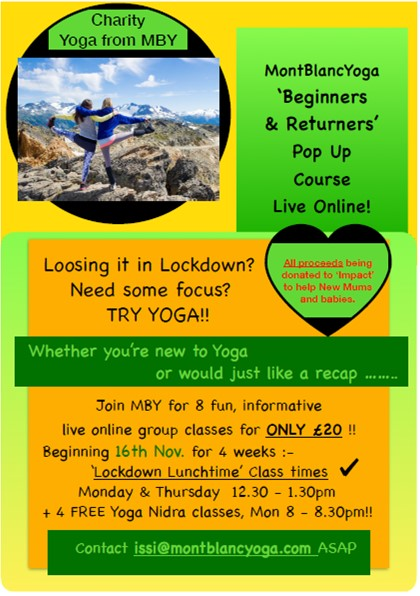 Do you fancy doing some yoga to support Maternity Africa's new mums and babies?